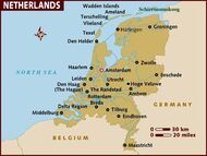 The Netherlands Map