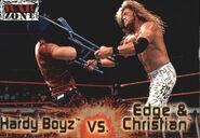 2001 WWF RAW Is War (Fleer) Hardy Boyz vs. Edge & Christian 57