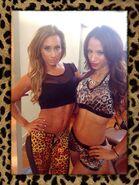 Carmella and Sasha Banks
