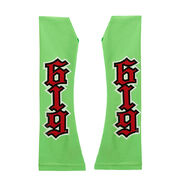 REY MYSTERIO RED GREEN ARM SLEEVES