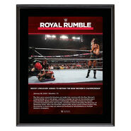 Becky Lynch Royal Rumble 2020 10x13 Commemorative Plaque