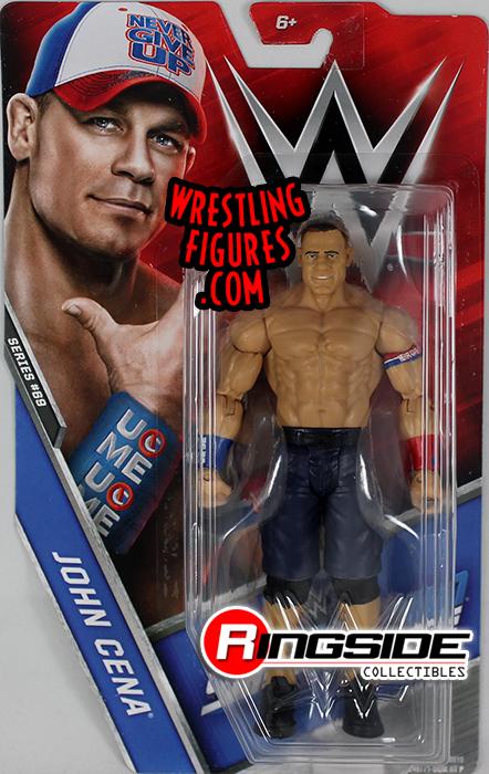 WWE JOHN CENA SMACKDOWN MATTEL BASIC SERIES 74 WRESTLING ACTION FIGURE WRESTLER