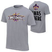 WrestleMania 30 I Was There Silver T-Shirt