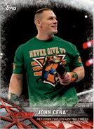 2017 WWE Road to WrestleMania Trading Cards (Topps) John Cena 4
