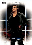2017 WWE Women's Division (Topps) Tamina 36