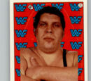 1987 WWF Wrestling Cards (Topps) Sticker Andre The Giant (No.17)
