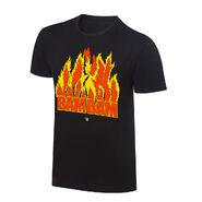 Bam Bam Bigelow Flames Retro T-Shirt