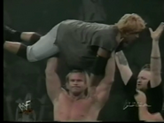 Billy Gunn throws Mens Teioh