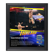 Cesaro FastLane 2017 15 x 17 Framed Plaque w Ring Canvas