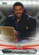 2019 WWE Raw Wrestling Cards (Topps) David Otunga 23