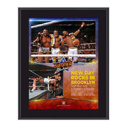 The New Day SummerSlam 2015 10.5 x 13 Photo Collage Plaque