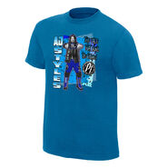 AJ Styles The Face That Runs The Place Neon Collection Graphic T-Shirt