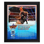 Becky Lynch SummerSlam 2019 15 x 17 Framed Plaque w Ring Canvas