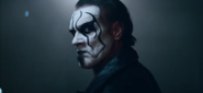 Screenshot of Sting from his video for WWE2K15.