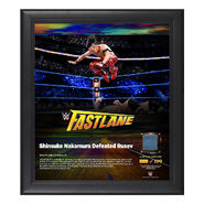 Shinsuke Nakamura FastLane 2018 15 x 17 Framed Plaque w Ring Canvas