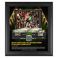 Brock Lesnar Money in The Bank 15 x 17 Frame w Ring Canvas