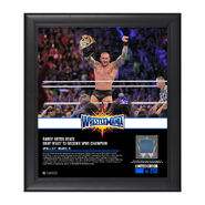 Randy Orton WrestleMania 33 15 x 17 Framed Plaque w Ring Canvas