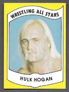 1982 Wrestling All Stars Series A and B Trading Cards Hulk Hogan (No.2)