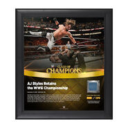 AJ Styles Clash of Champions 2017 15 x 17 Framed Plaque w Ring Canvas
