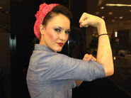 Cheerleader Melissa as Rosie the Riveter