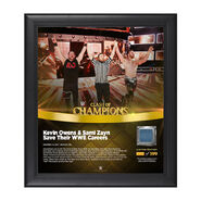 Kevin Owens & Sami Zayn Clash of Champions 2017 15 x 17 Framed Plaque w Ring Canvas