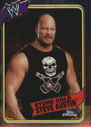 2008 WWE Heritage III Chrome Trading Cards Stone Cold Steve Austin 4