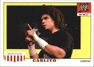 2008 WWE Heritage IV Trading Cards (Topps) Carlito 7