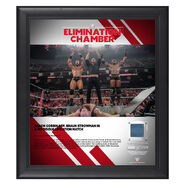 Baron Corbin Elimination Chamber 2019 15 x 17 Framed Plaque w Ring Canvas