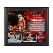 Alexa Bliss TLC 2016 15 x 17 Framed Plaque w Ring Canvas