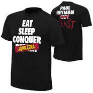 Brock Lesnar & Paul Heyman Eat, Sleep, Conquer John Cena T-Shirt