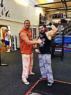 Joe Coffey at gym