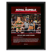 Bayley Royal Rumble 2020 10x13 Commemorative Plaque