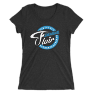 AJ STYLES & CHARLOTTE FLAIR MMC FENOMENAL FLAIR LOGO WOMEN'S TRI-BLEND T-SHIRT