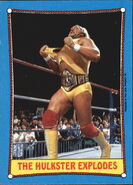 1987 WWF Wrestling Cards (Topps) The Hulkster Explodes 26