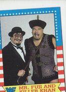 1987 WWF Wrestling Cards (Topps) Mr. Fuji & Killer Khan 17
