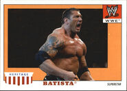 2008 WWE Heritage IV Trading Cards (Topps) Batista 4