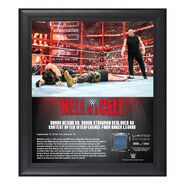 Hell in a Cell 2018 Universal Championship Match 15 x 17 Framed Plaque w Ring Canvas