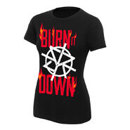 Seth Rollins Burn It Down Women's Authentic T-Shirt