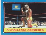 1987 WWF Wrestling Cards (Topps) A Challenge Answered (No.36)
