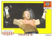 2008 WWE Heritage IV Trading Cards (Topps) Triple H 52