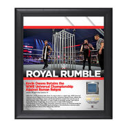 Kevin Owens Royal Rumble 2017 15 x 17 Framed Plaque w Ring Canvas