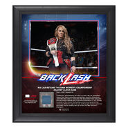 Nia Jax BackLash 2018 15 x 17 Framed Plaque w Ring Canvas