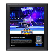 Undertaker WrestleMania 33 15 x 17 Framed Plaque w Ring Canvas