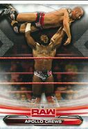 2019 WWE Raw Wrestling Cards (Topps) Apollo Crews 4