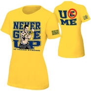 John Cena Gold 10 Years Strong Authentic women's T-Shirt
