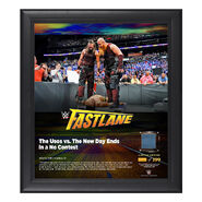 Bludgeon Brothers FastLane 2018 15 x 17 Framed Plaque w Ring Canvas