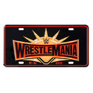 WrestleMania 35 Collectible License Plate Sign