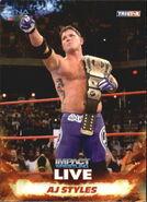 2013 TNA Impact Wrestling Live Trading Cards (Tristar) AJ Styles 8