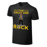 WWE x NERDS The Rock The Great One Cartoon T-Shirt