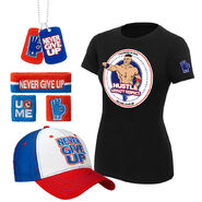 John Cena Hustle Loyalty Respect Women's T-Shirt Package